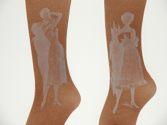 Printed Stockings - White